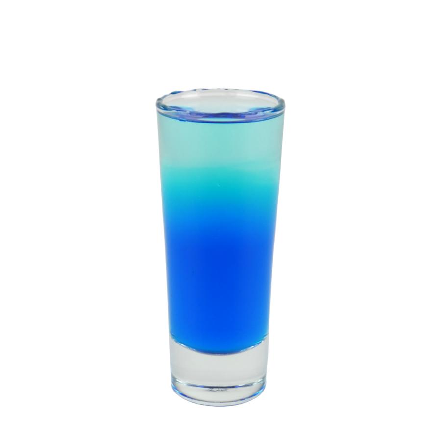 Blue tequila shot
