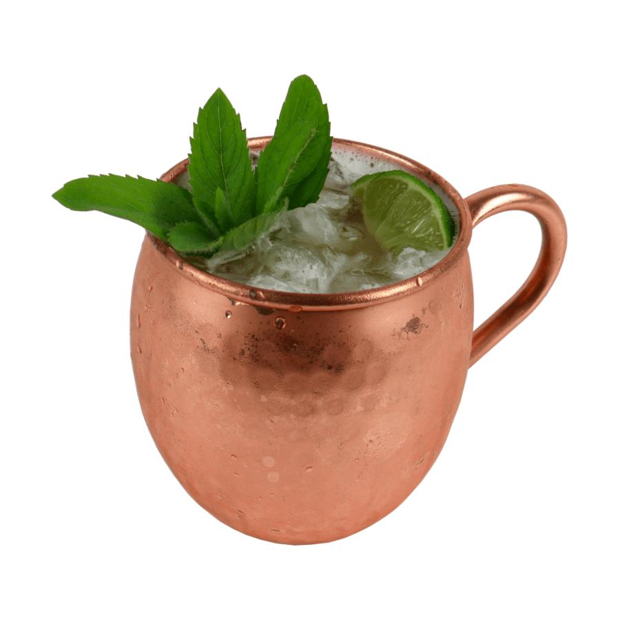 Moscow mule drink w miedzianym kubku